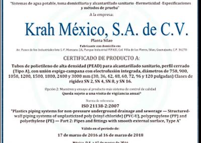 Certificado en producto de conformidad con la Norma Oficial Mexicana