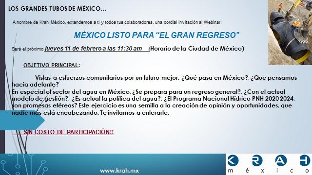 WEBINAR «MÉXICO LISTO PARA EL GRAN REGRESO»